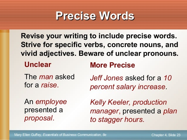 Precise Language And Transitions - Lessons - Tes Teach