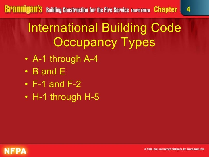 """construction types and occupancy classifications Classifications of buildings and the types of occupancies allowed within buildings classification of services occupancy"""", you are not allowed to occupy the building with more restrictive occupancies (eg group e, a, f and construction relative to major occupancy shall apply according to articles 3225 to 3228."""