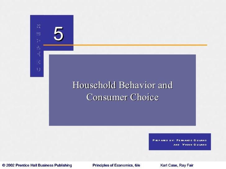 Household Behavior and Consumer Choice