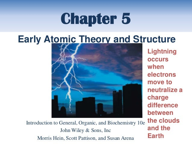 Chapter 5Early Atomic Theory and Structure                                                        Lightning               ...
