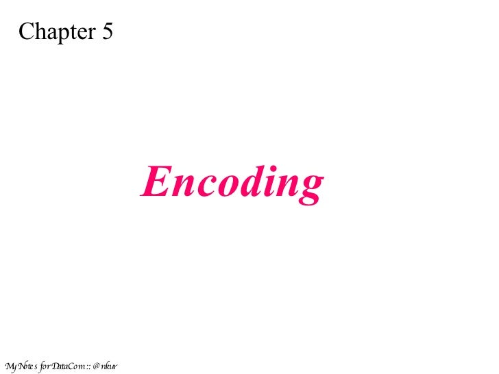 Encoding in Data Communication DC8