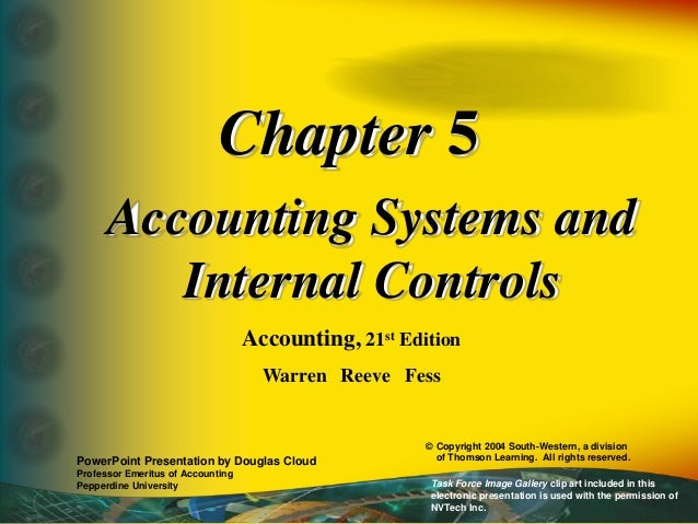 internal contro in accounting system Effective internal controls can help safeguard your organization's assets and   ach payments separate from those with access to the accounting system 7.