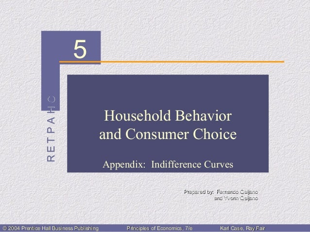 Ch05:household behavior and consumer choice