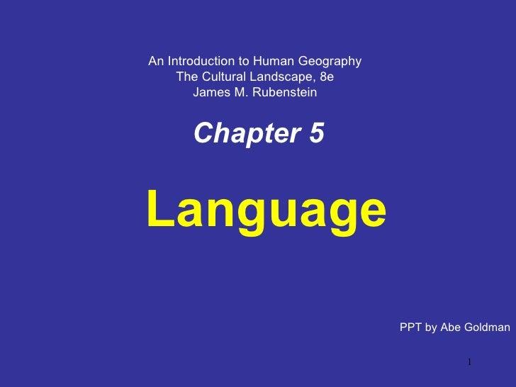 Chapter 5: Language
