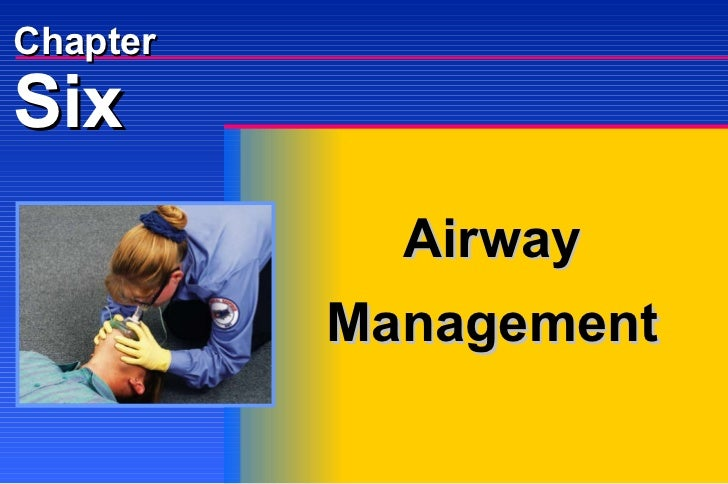 Six Chapter Airway Management