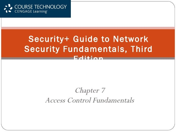 Chapter 7 Access Control Fundamentals Security+ Guide to Network Security Fundamentals, Third Edition