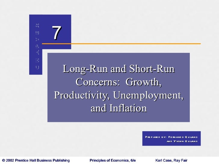 Long-Run and Short-Run Concerns
