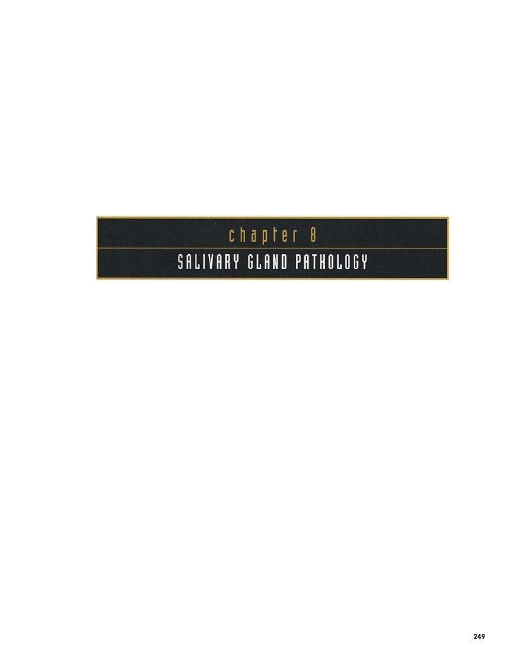 8/14 Salivary Gland Pathology- oral pathology color atlas