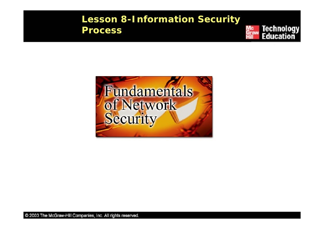 Lesson 8-Information Security Process