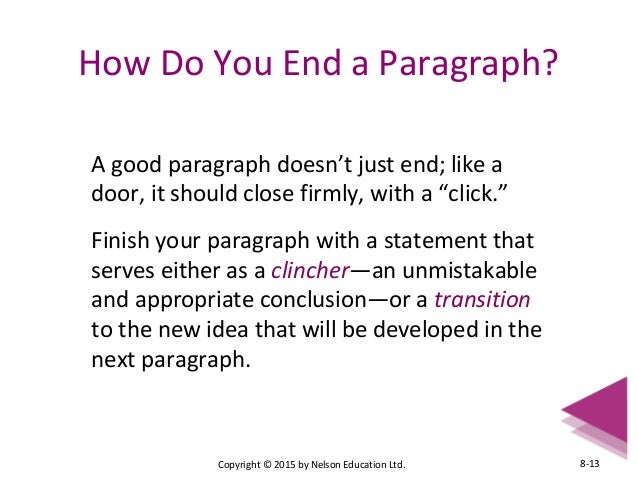 How to close a body paragraph for an essay