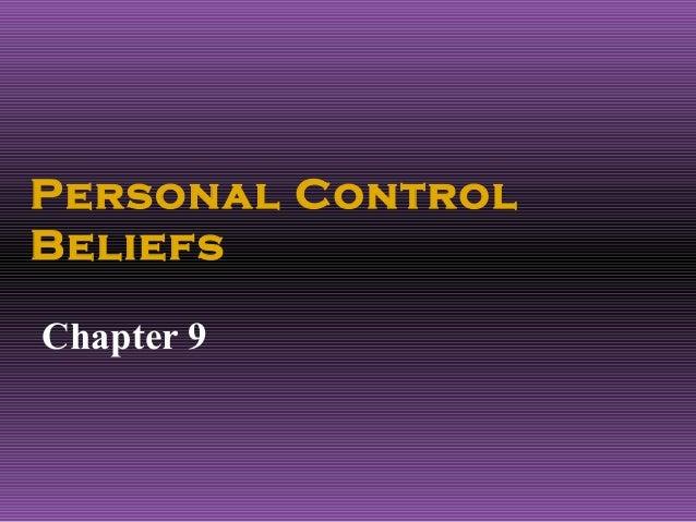 Personal ControlBeliefsChapter 9