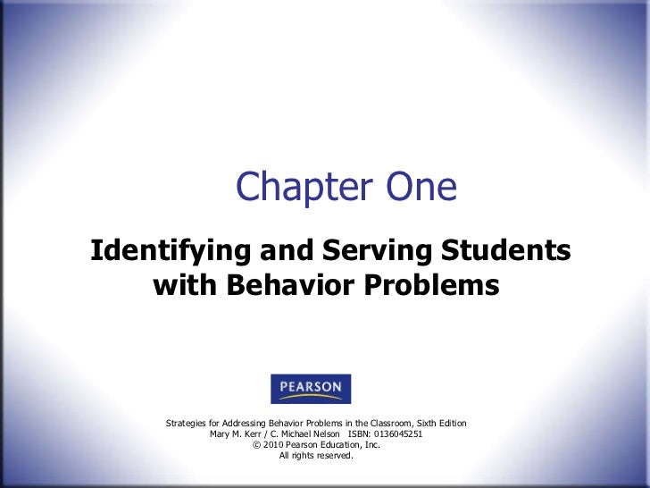 Identifying and Serving Students with Behavior Problems