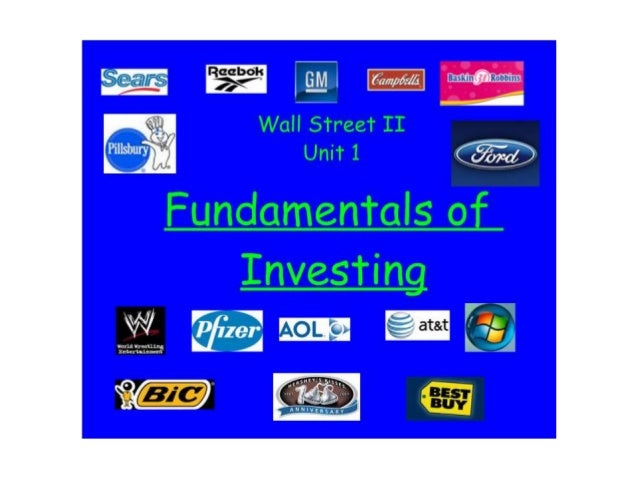 WS II Ch 1 Fundamentals of Investing