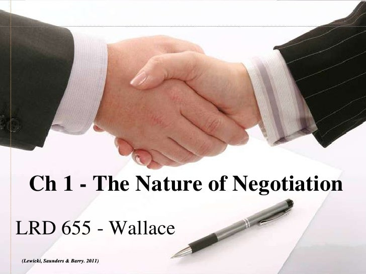 Nature of negotiation