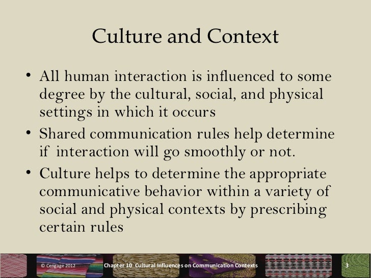 communication between cultures chapter eight Non-verbal communication personal space varies between cultures and classes, and even between the sexes for example chapter 8 nonverbal communication.