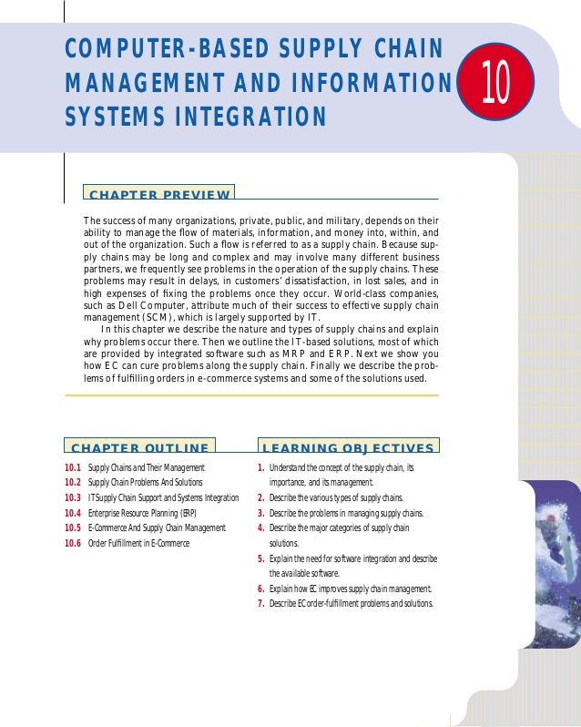 COMPUTER-BASED SUPPLY CHAINMANAGEMENT AND INFORMATIONSYSTEMS INTEGRATION                                                  ...
