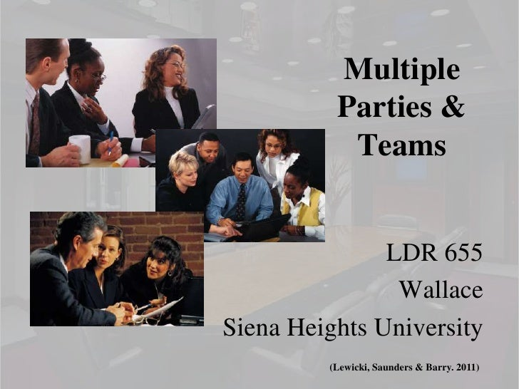 Multiple          Parties &           Teams               LDR 655                WallaceSiena Heights University         (...