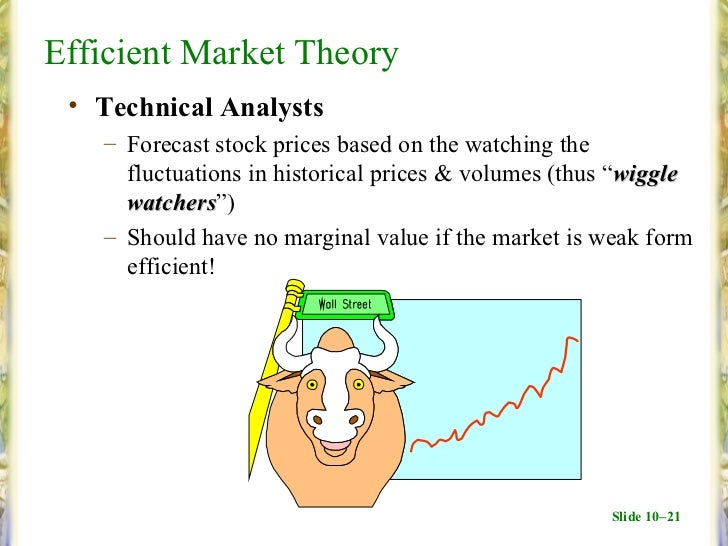 efficient market theory How can algorithmic or pattern trading generate profits when (weak-form) market efficiency theory argues that past price information is irrelevant.
