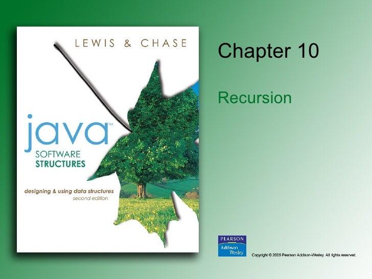 Chapter 10 Recursion