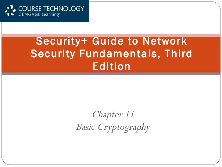 Ch11 Basic Cryptography