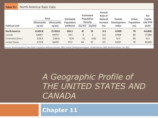 A Geographic Profile ofTHE UNITED STATES ANDCANADAChapter 11