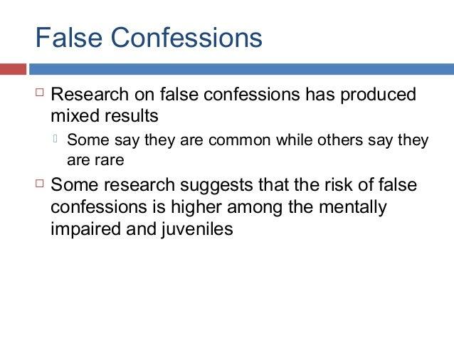 False Confessions Blog