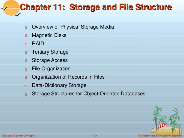 11. Storage and File Structure in DBMS