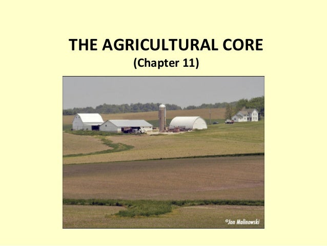 THE AGRICULTURAL CORE (Chapter 11)