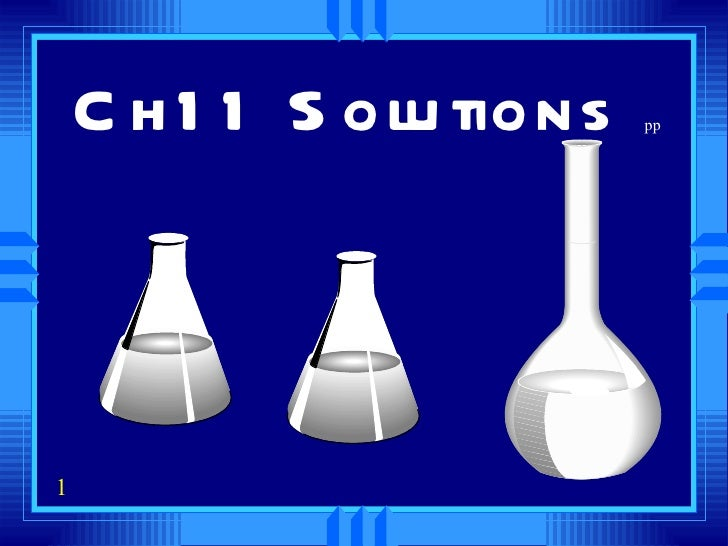 Ch11 Solutions  pp