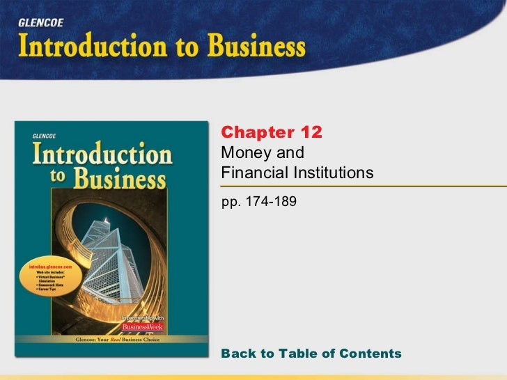 pp. 174-189 Chapter 12   Money and Financial Institutions