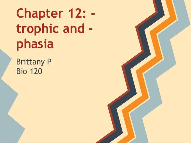 Chapter 12: trophic and phasia Brittany P Bio 120