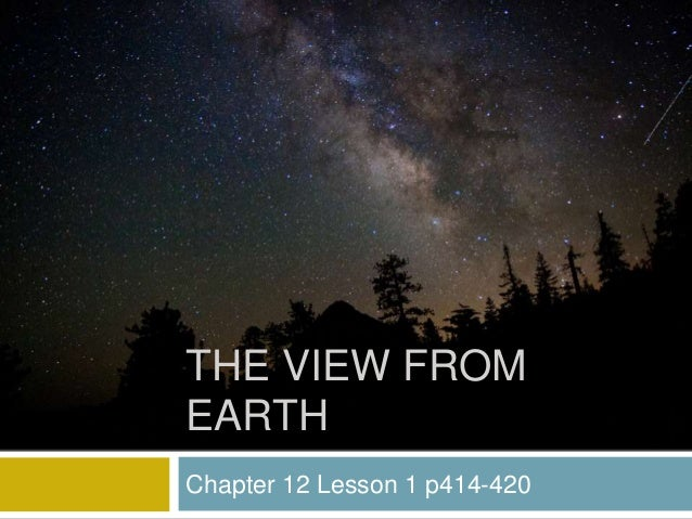 Chapter 12 Lesson 1 p414-420 THE VIEW FROM EARTH