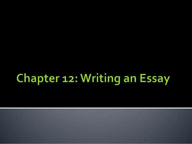 Ch 12 writing essay