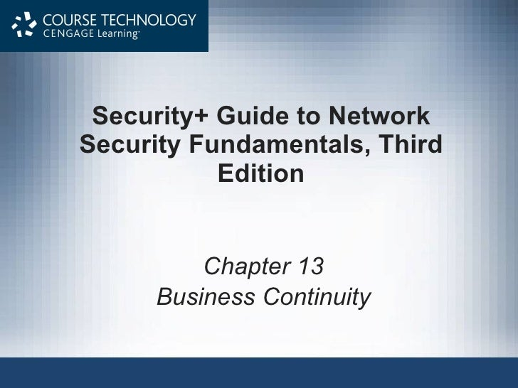 Ch13 Business Continuity Planning and Procedures