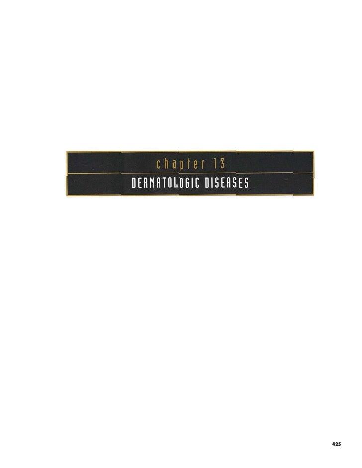13/14 Dermatologic Diseases- OP Color Atlas