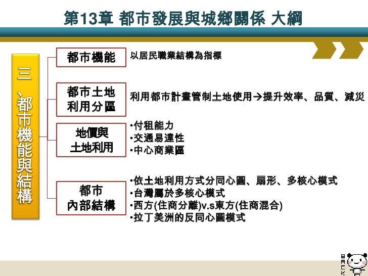 ch13都市發展與都城鄉關係(95龍騰版)