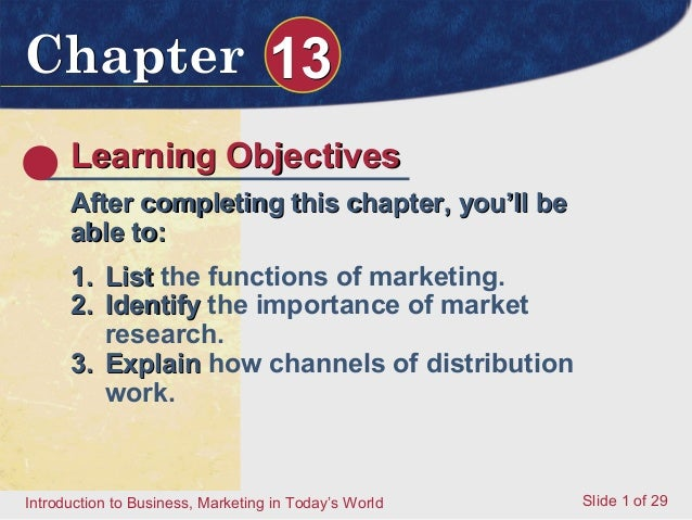 Chapter 13      Learning Objectives      After completing this chapter, you'll be      able to:      1. List the functions...