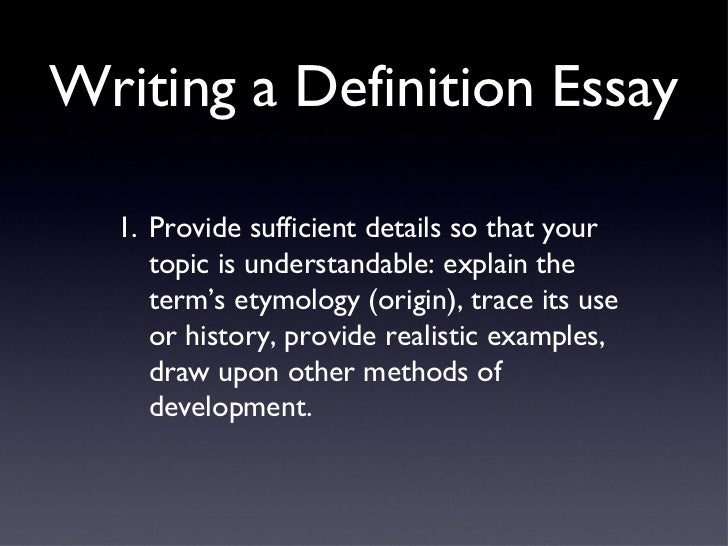 steps writing definition essay Writing effective essay questions requires based on stalnaker's definition, an essay question should meet depending on where students learned the steps.