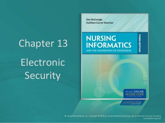 Chapter 13 Electronic Security
