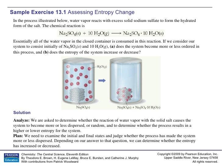 AP Chemistry Chapter 13 Sample Exercises