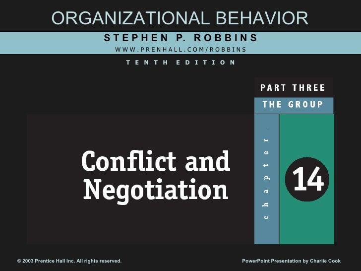 Ch14 Conflict & Negotiation