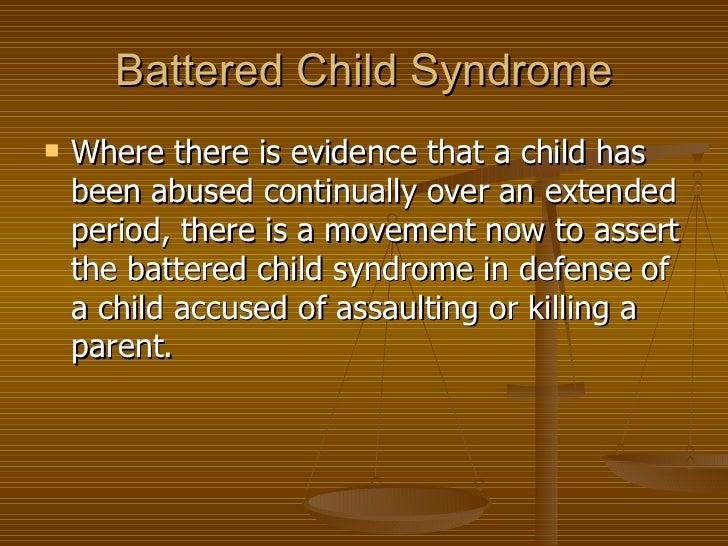 Battered child syndrome?