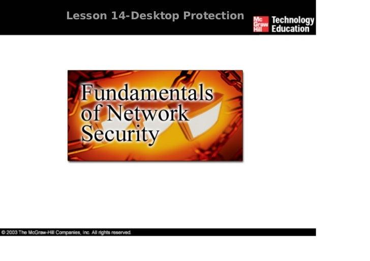 Lesson 14-Desktop Protection
