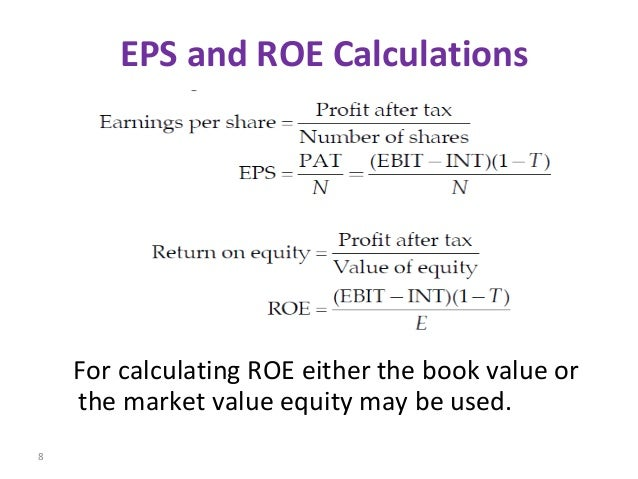 eps and gearing using ordinary share financing Ordinary share capital and long term  drastic changes in the capital structure directly impact to the eps of the  calculate the gearing by using market.