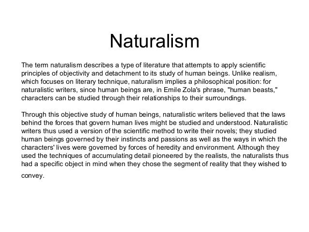 Naturalistic writing