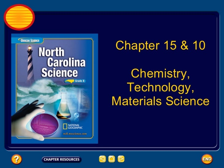 Chapter 15 & 10 Chemistry, Technology, Materials Science