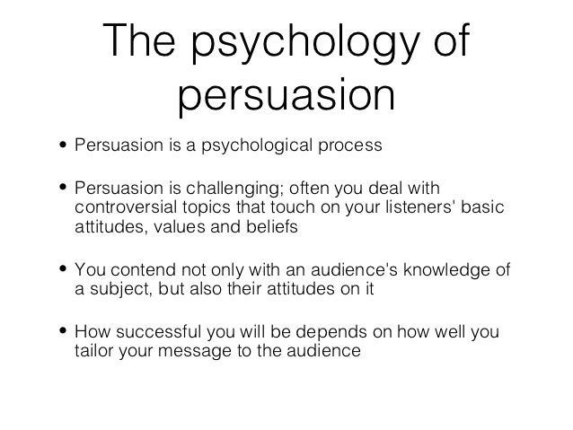 How to be persuasive in a speech