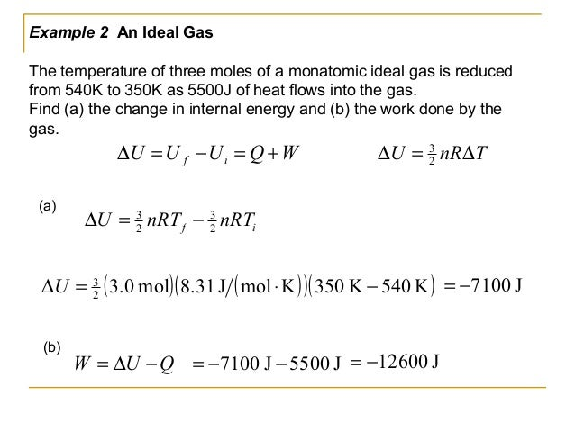 Ideal Gas And Internal Energy