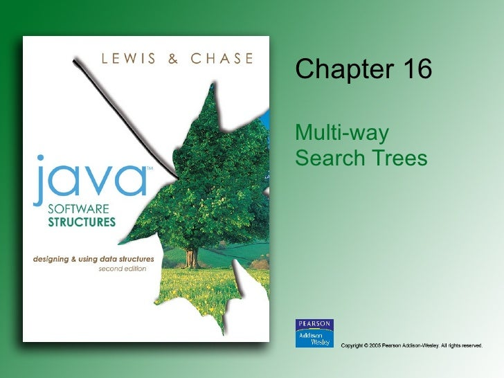 Chapter 16 Multi-way  Search Trees