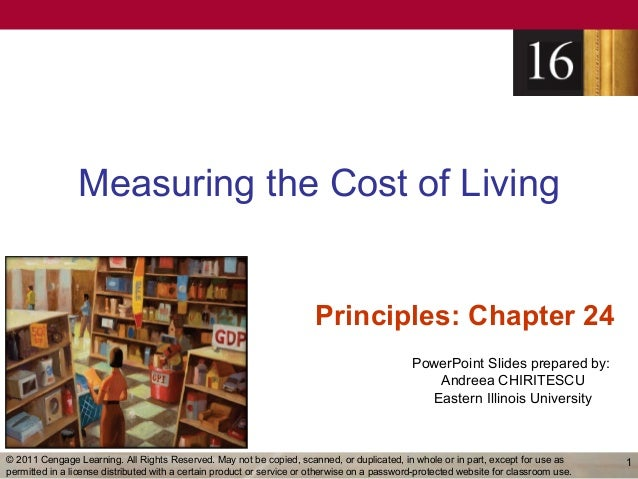 Measuring the Cost of Living                                                                        Principles: Chapter 24...